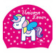 Turbo Unicorn Love Swimming Cap Fuchsia